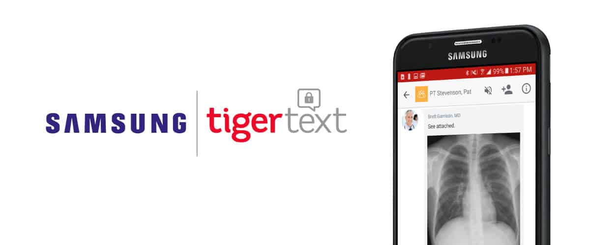 Samsung and TigerText Collaborate to Transform Healthcare Communications for Clinicians
