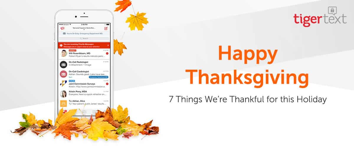 Happy Thanksgiving from TigerText