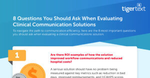 Evaluating Clinical Communication Solutions