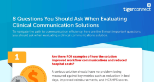 8 Questions You Should Ask When Evaluating Clinical Communication Solutions Infographic Rollup Image