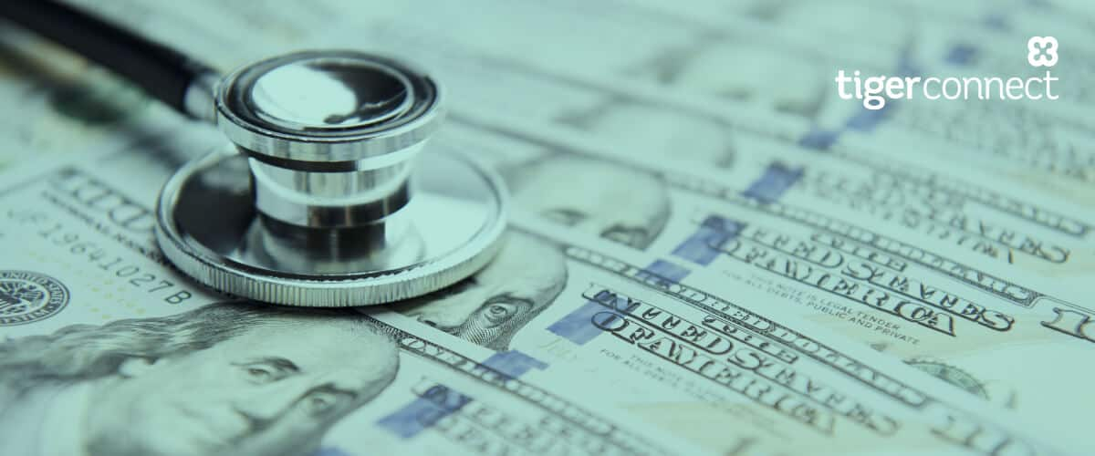 The Cost of Ineffective Communications in Healthcare-Image of Stethoscope resting on money