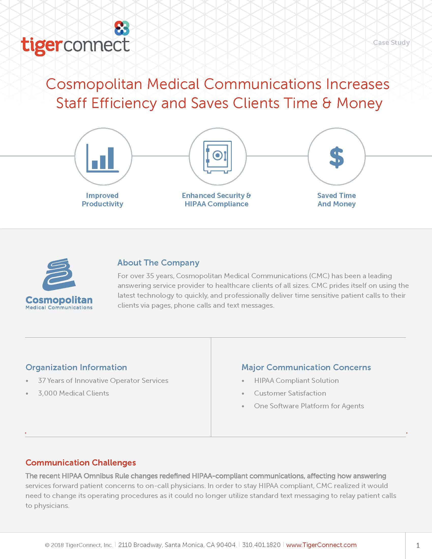 Cosmopolitan Medical Communications Case Study Preview