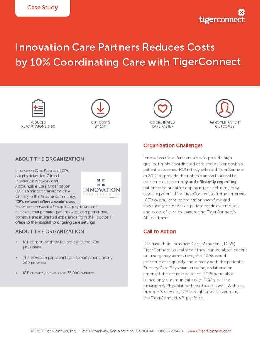 Innovation Care Partners Case Study Preview