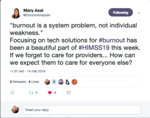 Dr. Mary Asal Tweets about Physician Burnout