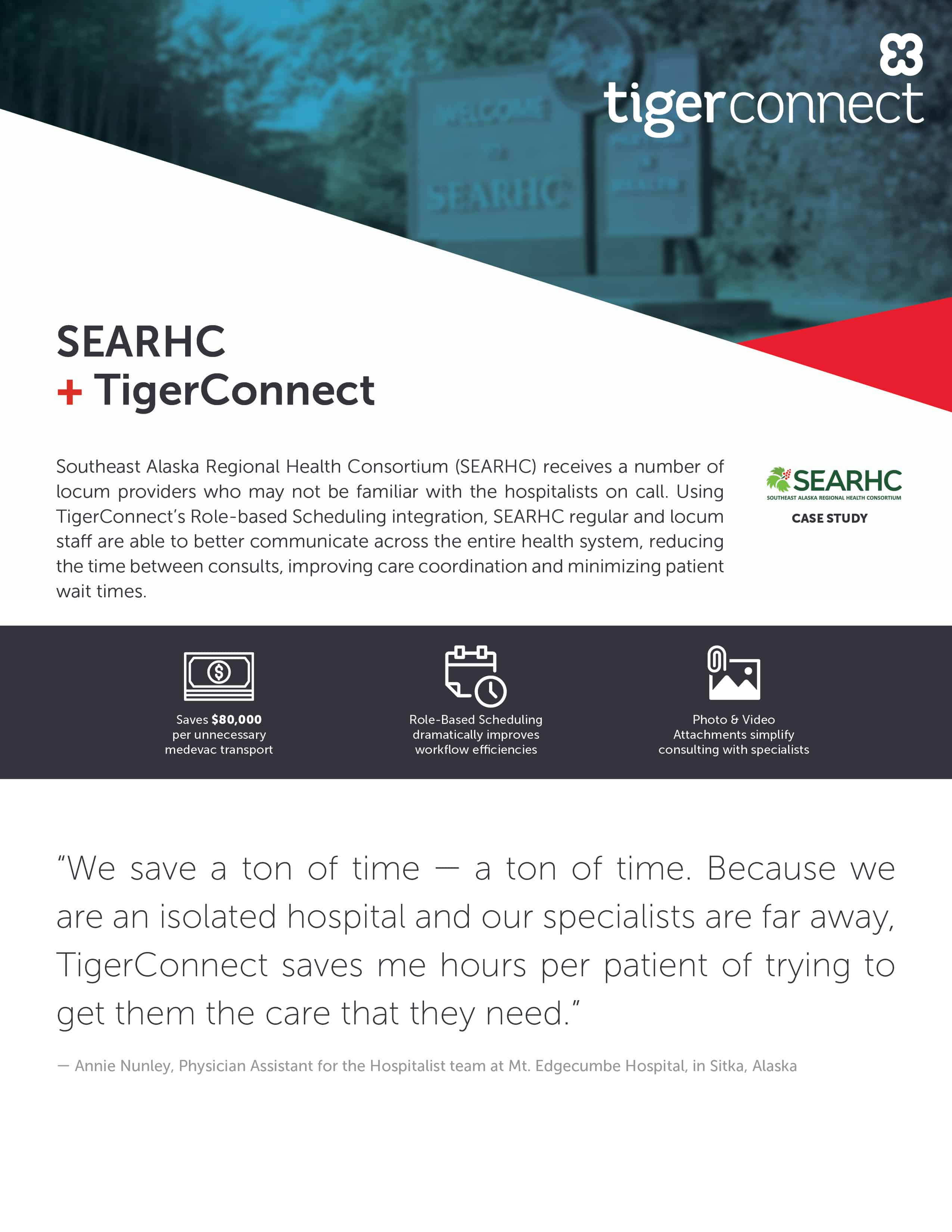 Southeast Alaska Regional Health Consortium (SEARHC) Case Study for TigerConnect