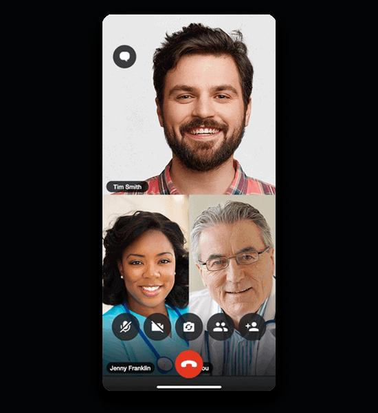 Coordinate care via voice & video