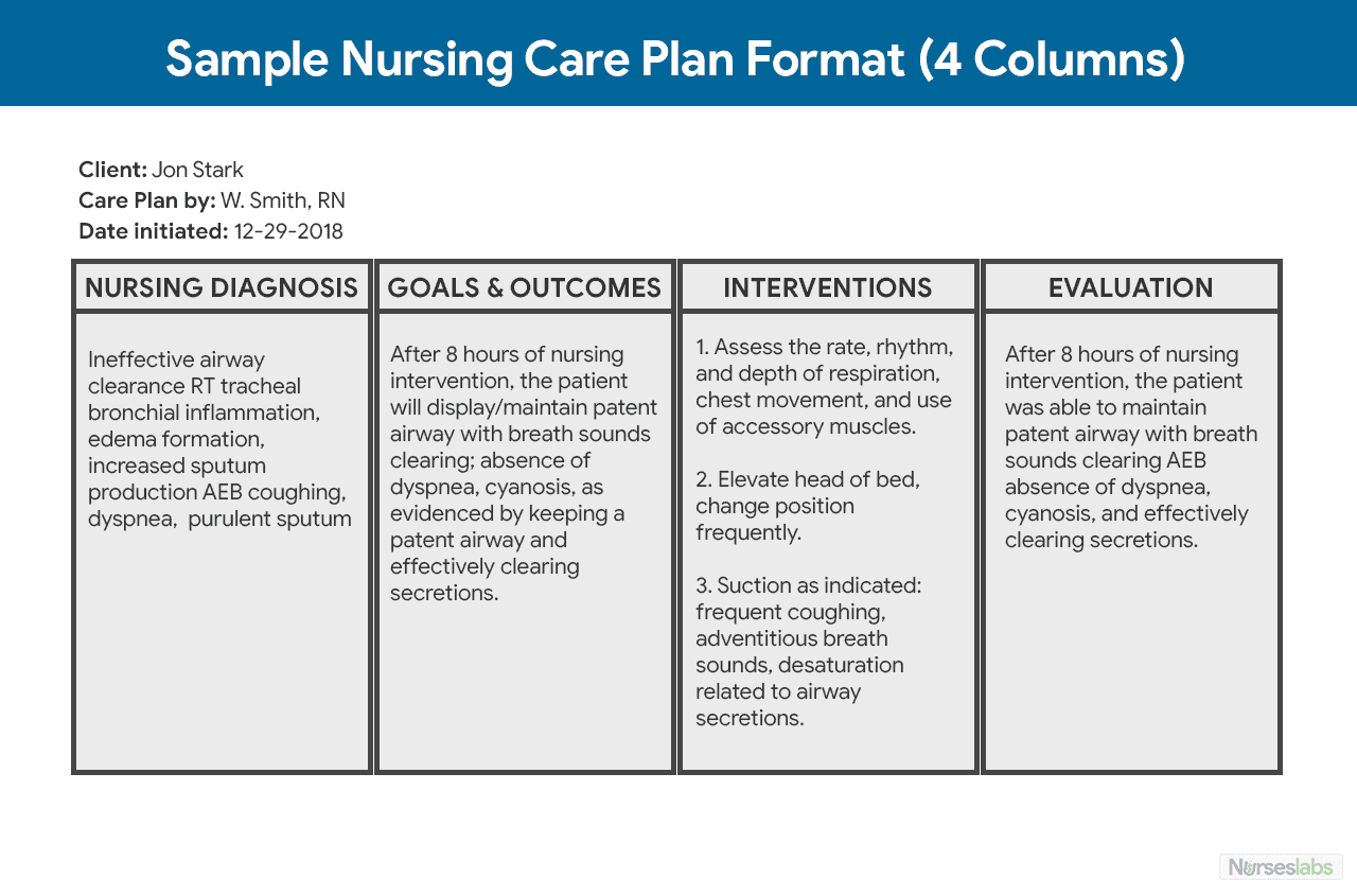 Developing a Nursing Care Plan for Your Hospital ...