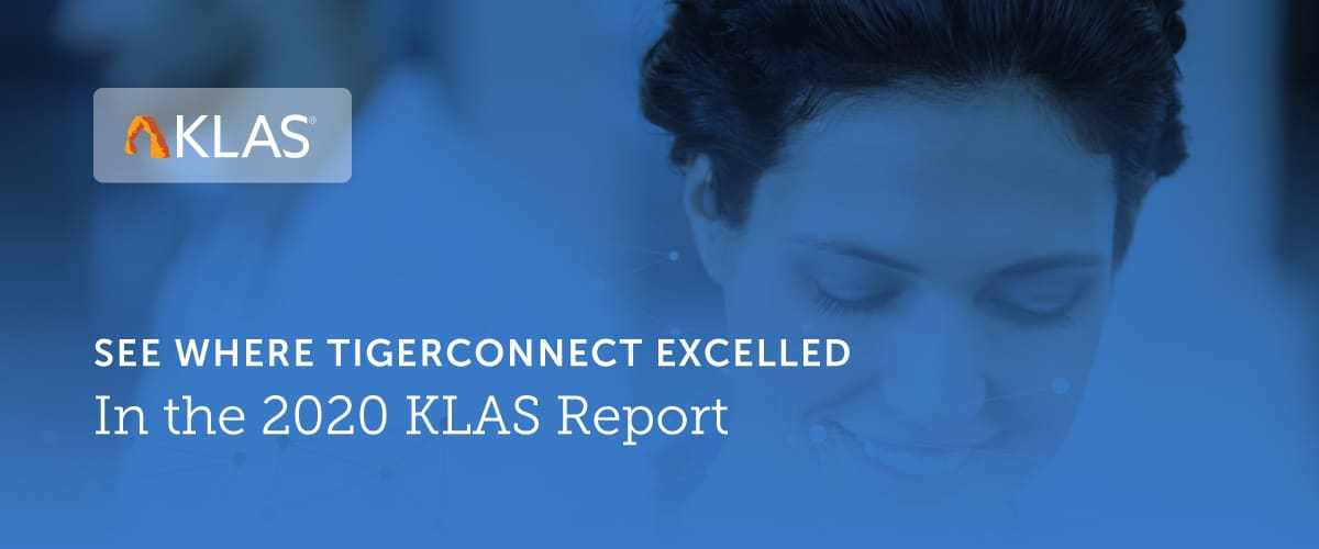 KLAS Rates TigerConnect as a Top Vendor for Advanced Workflow Adoption