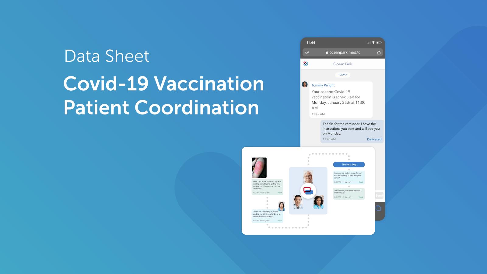Patient Vaccination Coordination Datasheet