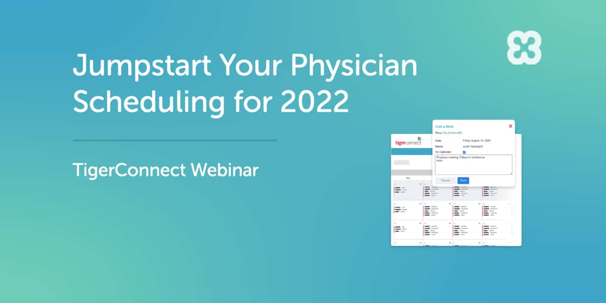 Jumpstart Your Physician Scheduling for 2022