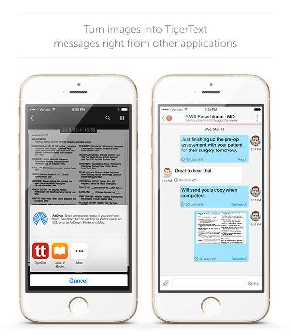 TigerText App Extension